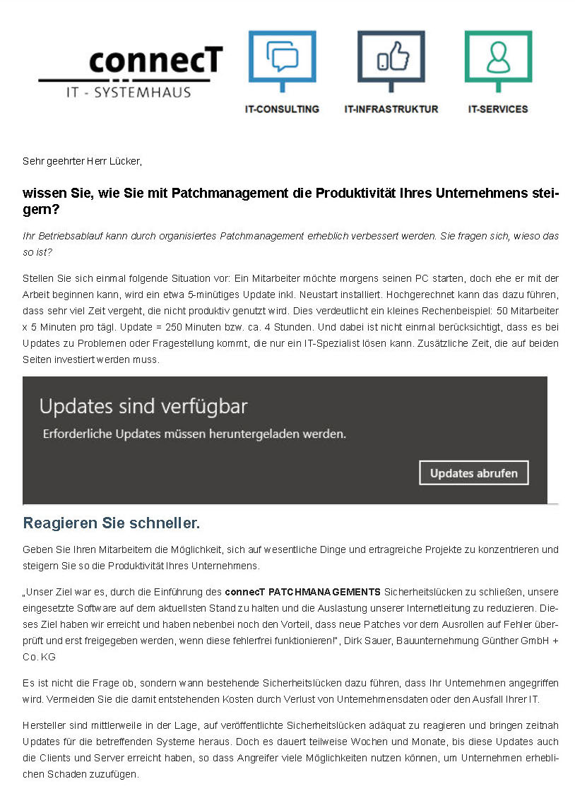 Newsletter Patchmanagement